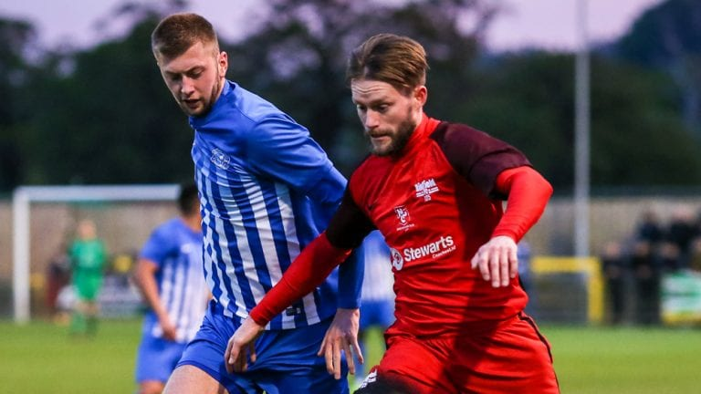 Ian Davies against Thatcham Town in the Floodlit Cup Final. Photo: Neil Graham.
