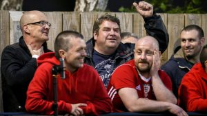 Bracknell Town fans at Larges Lane. Photo: Neil Graham.