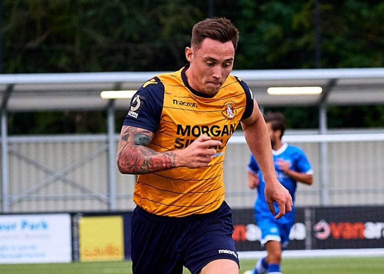 Joe Grant playing for Slough Town.