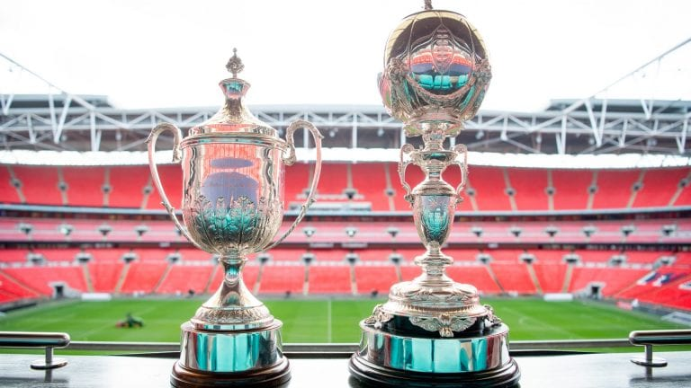 The FA Vase and FA Trophy.