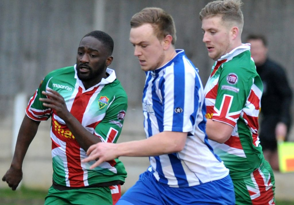 Marcus Mealing playing for Chertsey Town. Photo: SurreyLive.