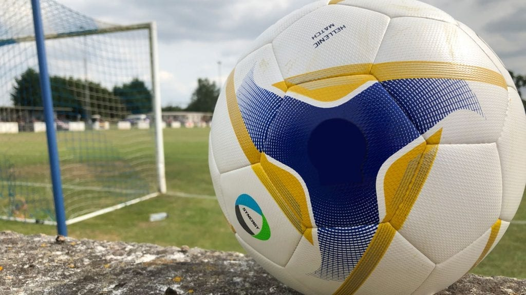 A football at The Rivermoor, Reading. Photo: Tom Canning