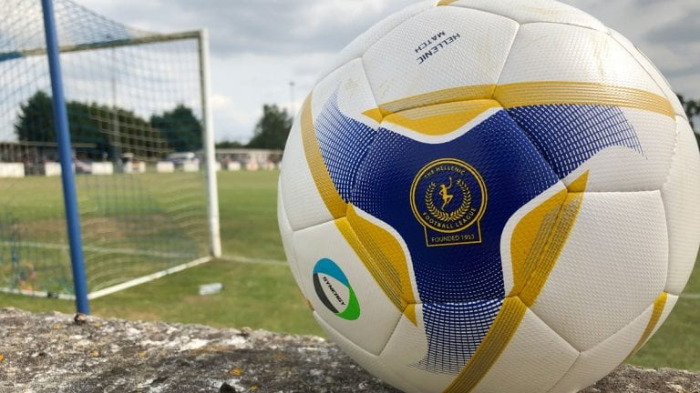 A Hellenic League football at The Rivermoor, Reading. Photo: Tom Canning