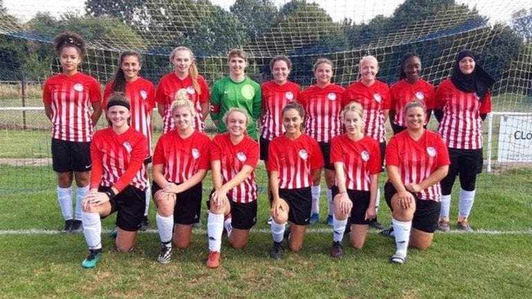 The Caversham AFC Ladies squad.