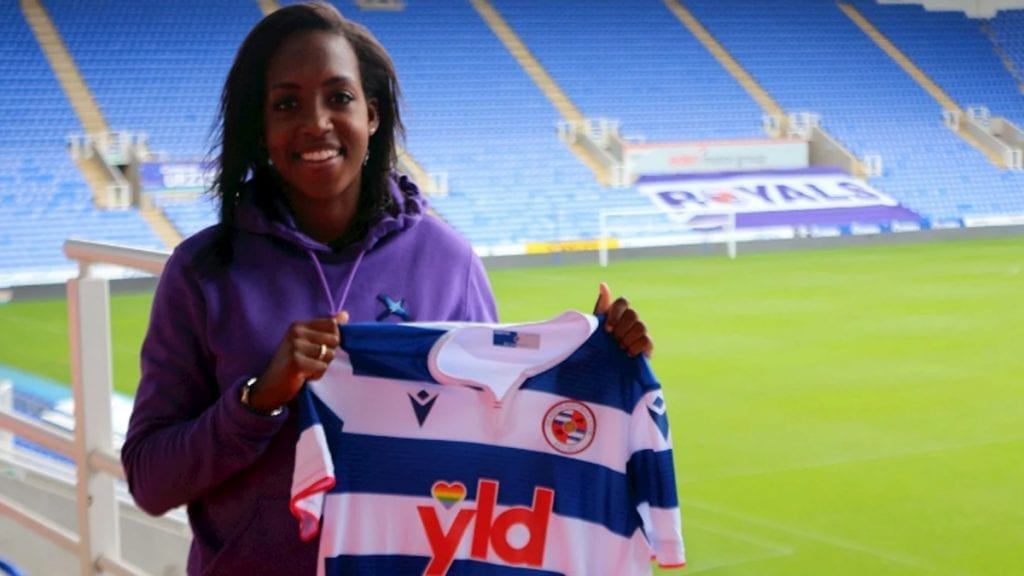 Danielle Carter signs for Reading FC Women. Photo supplied by the club.
