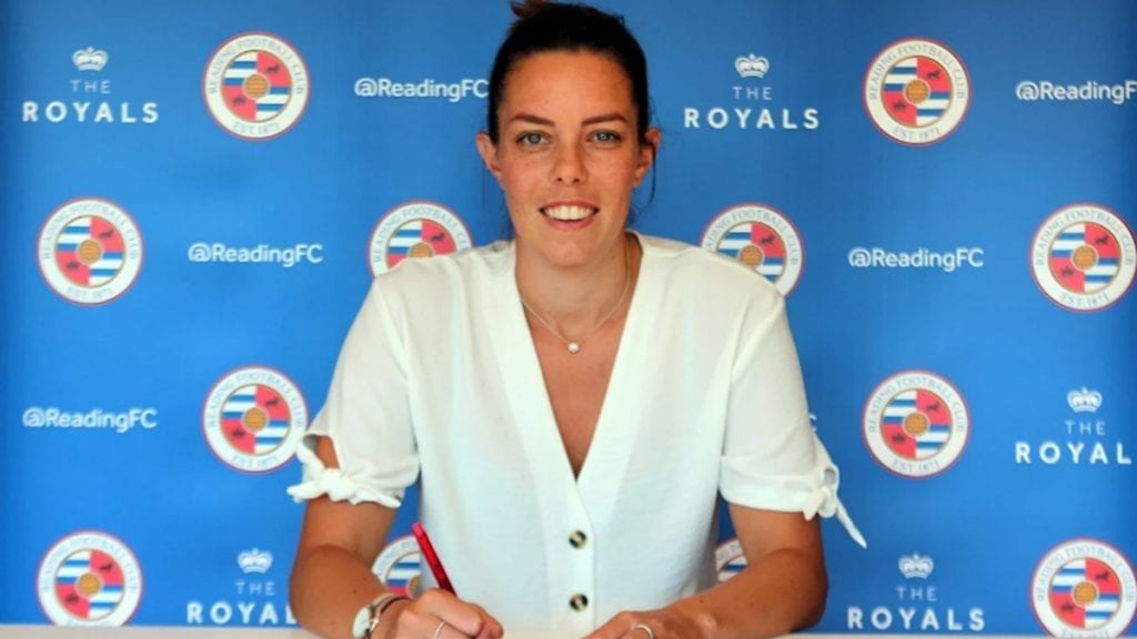 Deanna Cooper signs for Reading FC Women. Photo supplied by the club.