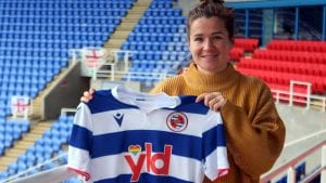 Emma Mitchell signs for Reading FC Women. Photo supplied by the club.