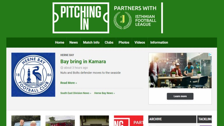 Introducing Pitching In, the new sponsor of the Isthmian, Southern and Northern Leagues.