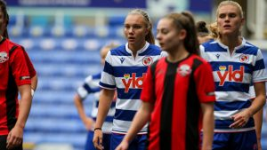 Kiera Skeels in action for Reading FC Women against Lewes. Photo: Neil Graham / ngsportsphotography.com