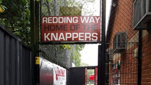 Redding Way, the home of Combined Counties League Knaphill FC. Photo: Steve Gabb.