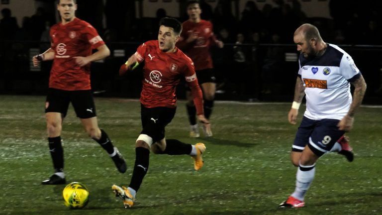 Seb Bowerman was Bracknell Town's goalscorer in the FA Trophy against Havant & Waterlooville