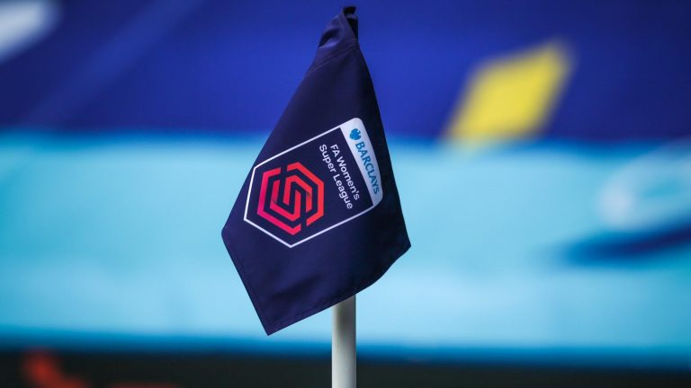 FA Women's Super League corner flag. Photo: Neil Graham / ngsportsphotography.com