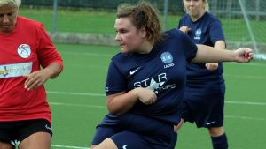 Abi Ticehurst in action for S4K Ladies. Photo: Andrew Batt.