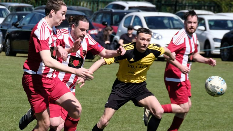 Action from Pundit FC vs AFC Winkfield Reserves. Photo: Andrew Batt.