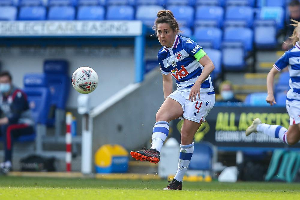 Fara Williams puts Reading 1-0 up in the FA Cup 4th Round. Photo: Neil Graham / ngsportsphotography.com