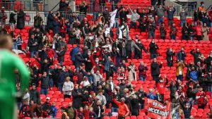 Binfield fans in the Wembley crowd. Photo: Neil Graham / ngsportsphotography.com