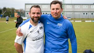 Binfield managers Jamie McClurg and Carl Withers. Photo: Neil Graham / ngsportsphotography.com