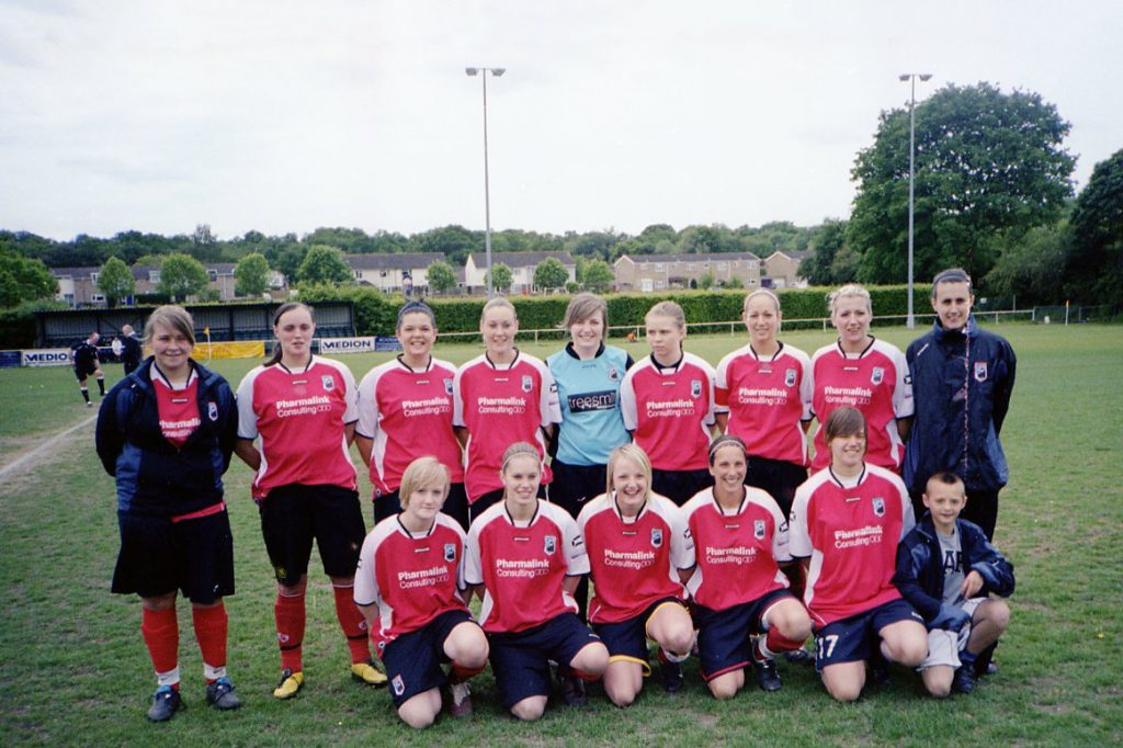 Back Row (Left to Right): Chloe Rostron, Lucy Thompson, Jade Pilley, Tina Brett, Ellie Parker, Lou Ekins, Natalie Barrett, Pippa Busby, Amy Saunders Front Tow (Left to Right): Kat Mace, Alex Dover, Mel Callaway, Verity Snow, Chrissy Nassif