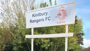 The sign you've arrived at Kintbury Rangers FC.