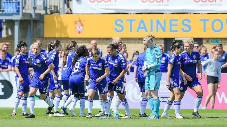 Chelsea Women at Staines Town FC. Photo: Neil Graham / ngsportsphotography.com