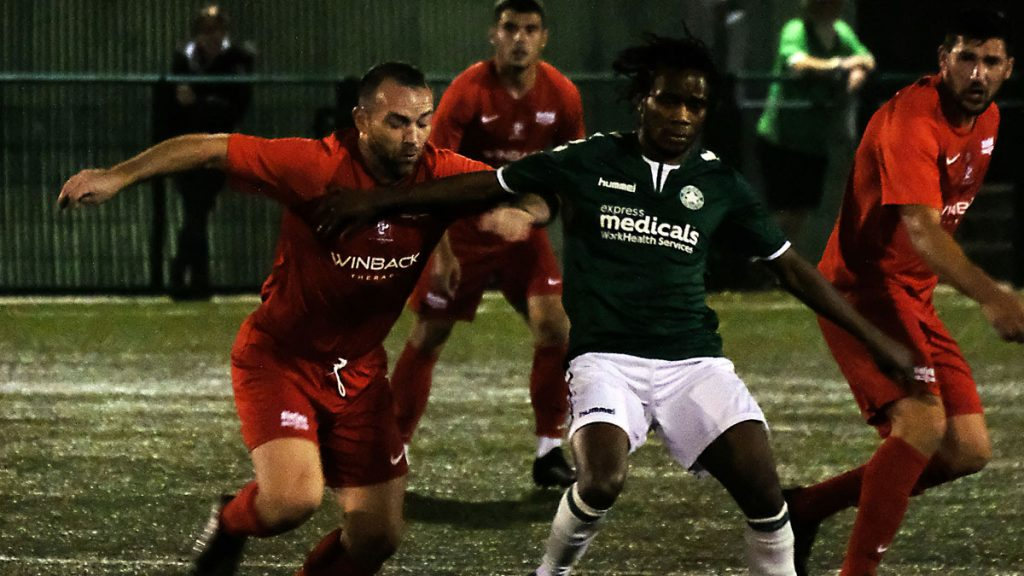 Whyteleafe vs Binfield in the FA Cup. Photo: Andrew Batt.