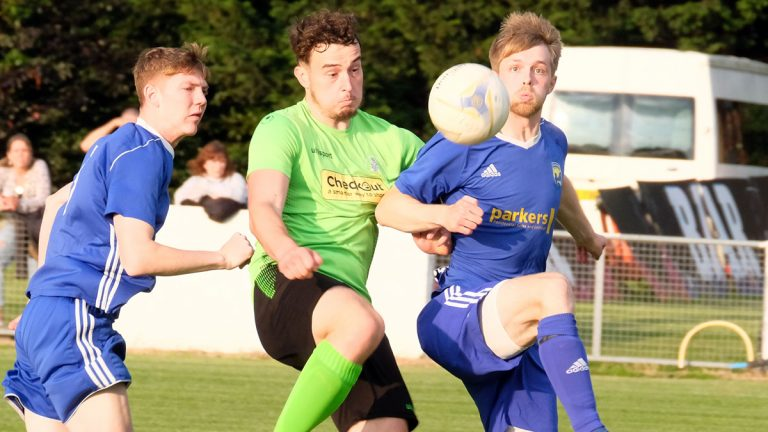 Action from a pre season friendly between Reading City and Chalvey Sports. Photo: Andrew Batt.