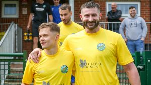 Ascot United's George Lock and Chris Ellis. Photo: Neil Graham / ngsportsphotography.com