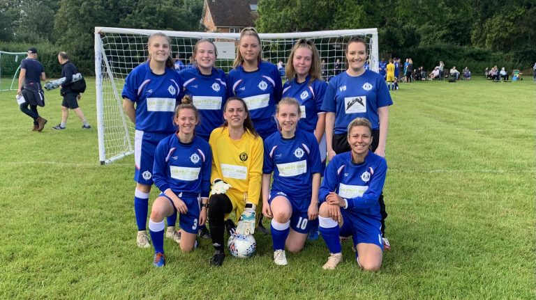 Burghfield Ladies debut the team at the annual Burghfield tournament. Photo: Tim Spray.