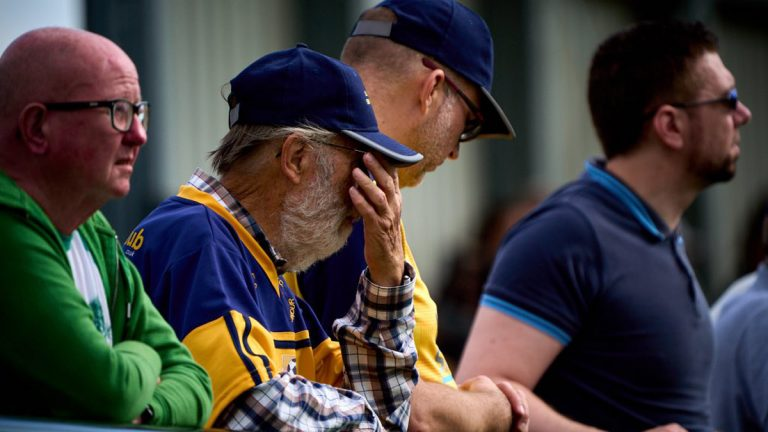 A Slough Town fan sums up feelings during the FA Cup defeat to Whitehawk. Philip J.A Benton/philipbenton.com