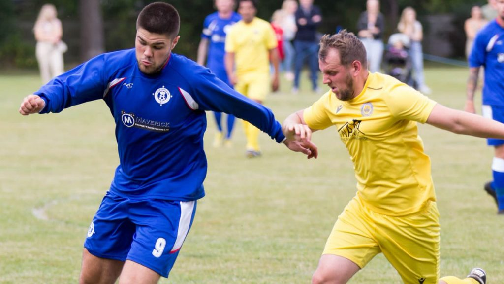 Action from Burghfield vs Mortimer. Photo: Steve Williams.