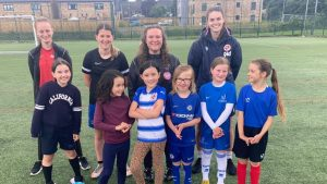 Emma Harries drops in on the Berks County Wildcats session. Photo: Abi Ticehurst
