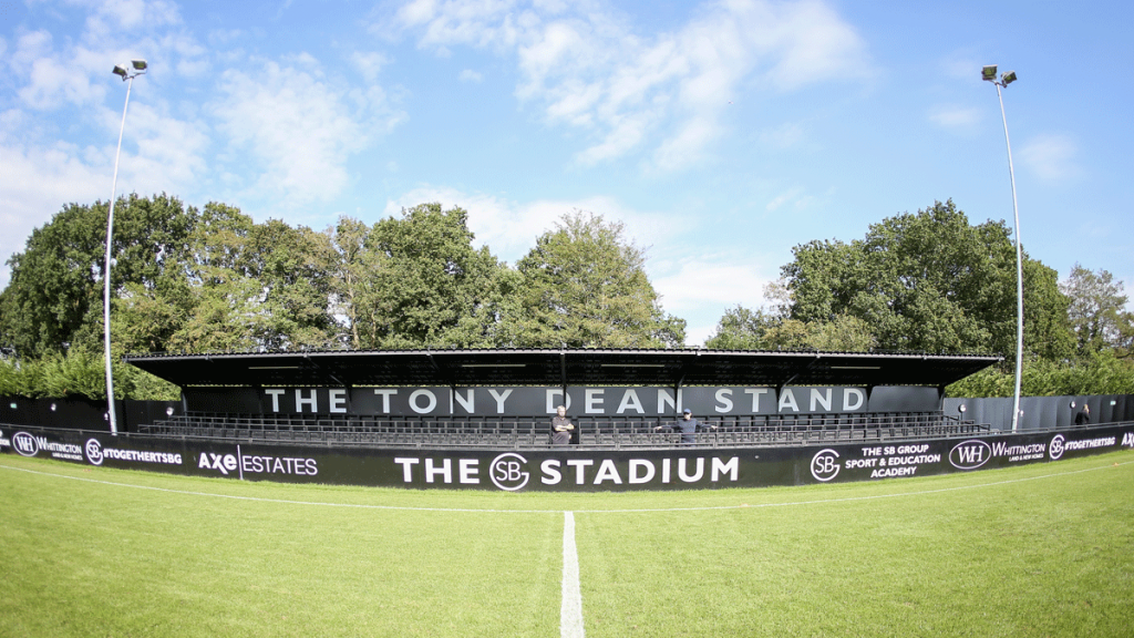 The Tony Dean stand at Bottom Meadow - home of Sandhurst Town and Bracknell Town. Photo: Neil Graham / ngsportsphotography.com