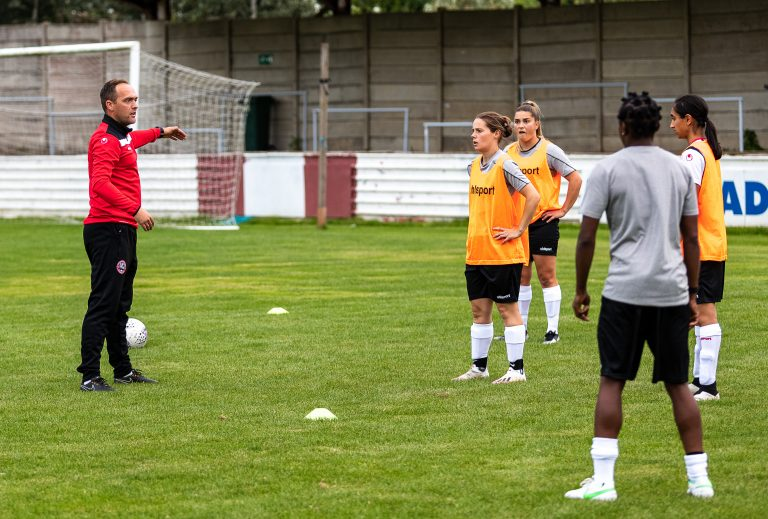 Womens National League match between Maidenhead United and Chesham Ladies at The Meadow, Chesham on the 25 August 2021 Photo: Darren Woolley