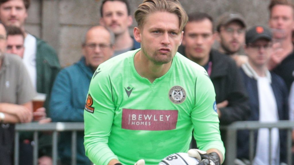 Hungerford Town goalkeeper Luke Cairney. Photo: Jeff Youd.