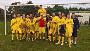 Mortimer FC say goodbye to James Swanborough. Photo supplied by Mortimer FC.