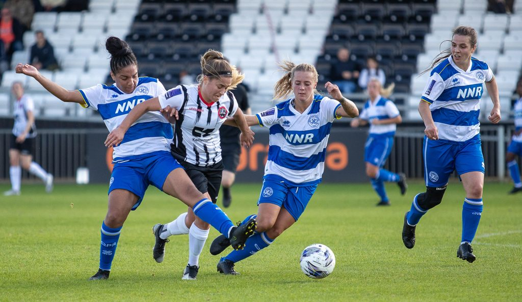 Nicole Barratt in the FA Women's National League Plate match between Maidenhead United and QPR at York Road. Photo: Darren Woolley / darrenwoolley.photos
