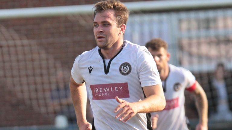 Hungerford Town striker Ryan Seager. Photo: Jeff Youd.